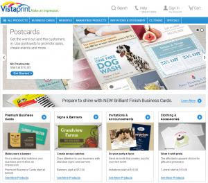 Vistaprint   Business Cards, Websites, Postcards, T-shirts And More