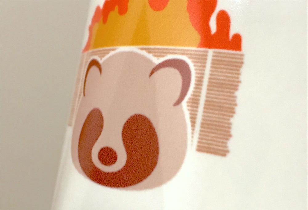 マグカップ印刷部分のアップ