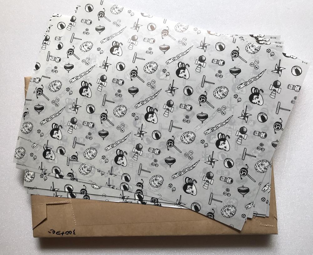 こがわのモノクロ包装紙(A4)